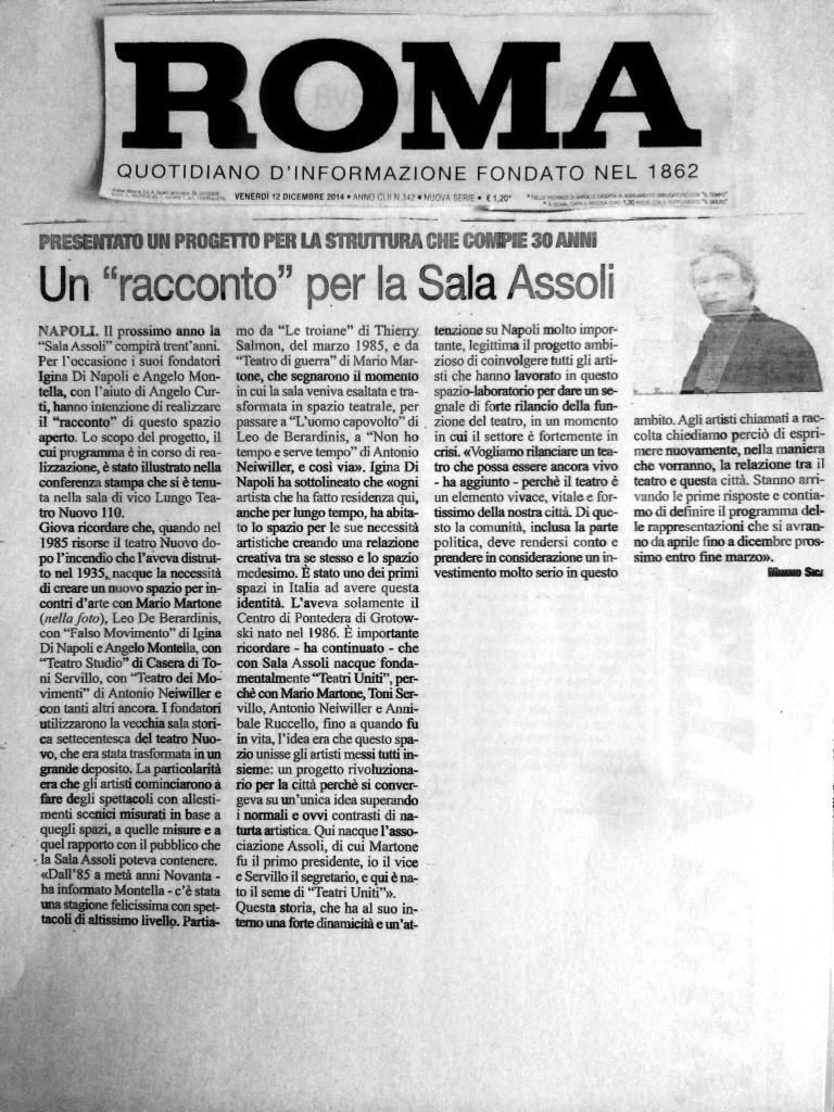 il roma, 6 dicembre 2014